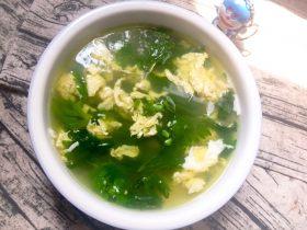 芹菜叶子鸡蛋汤