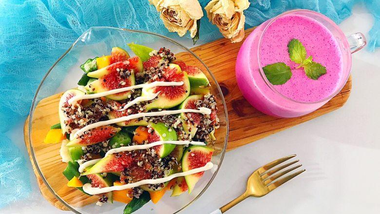 健康饮食之藜麦秋葵吐司沙拉