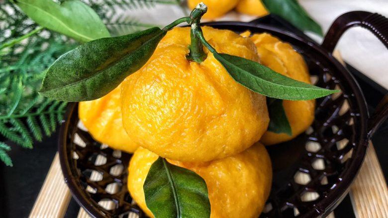 以假乱真~橘子馒头
