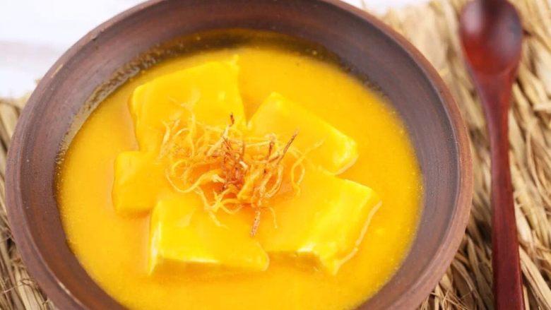 南瓜金汤泡嫩豆腐