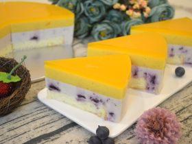酸奶慕斯蛋糕(蓝莓+芒果)