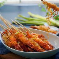 私家茄汁金丝虾串