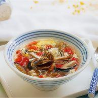 """私家番茄豆腐<span style=""""color:red"""">鳝</span>鱼汤"""