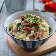 葫芦瓜腊肠冬菇焖饭