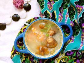文蛤虾仁海鲜粥