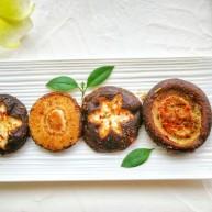 孜然嫩烤鲜香菇(附香菇切花刀方法)