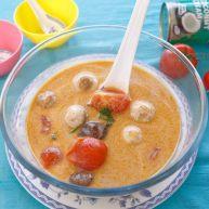 西红柿炖双菇椰浆汤
