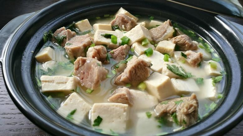 羊肉炖豆腐(附清汤羊肉)