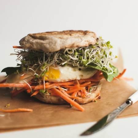 1分钟早餐三明治