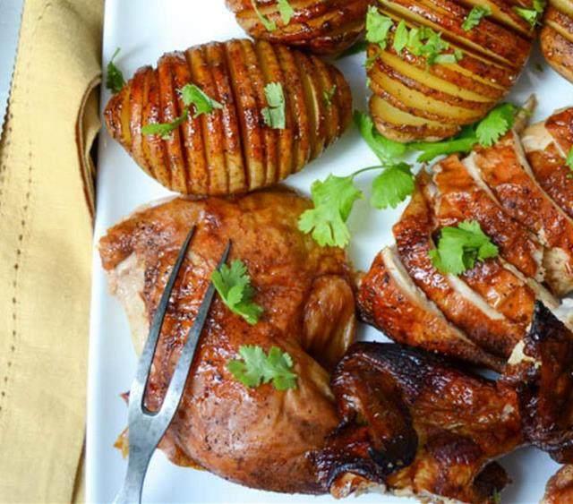 干红辣椒啤酒罐烤鸡