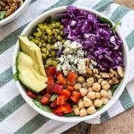 紫甘蓝豌豆能量碗
