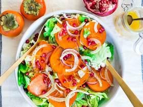 秋天的柿子沙拉