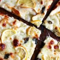 烟熏意大利干酪柠檬披萨