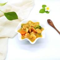 #东南亚风味的#椰汁咖喱虾