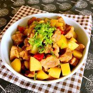 梅花肉烧土豆