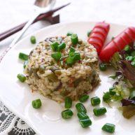培根芸豆焖糙米饭