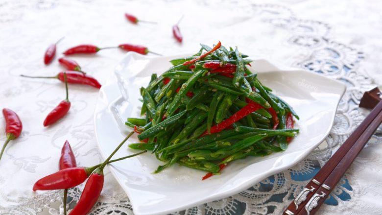 红椒爆炒芸豆丝