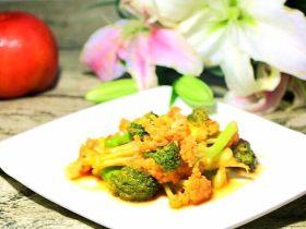 茄汁双花 宝宝辅食,西兰花+花菜+西红柿