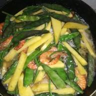 虾酱扁豆角土豆