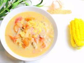 猪肝疙瘩汤 宝宝辅食,面粉+黄豆粉+