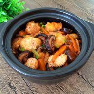 香菇虾仁豆腐煲