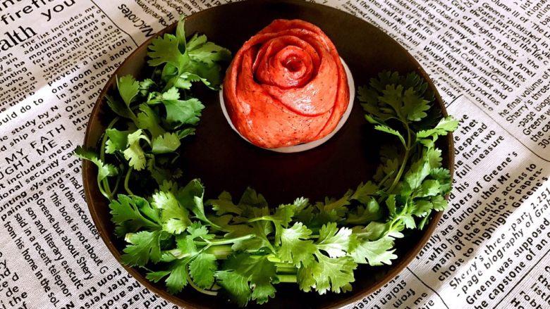 绽放的玫瑰  花样果味馒头
