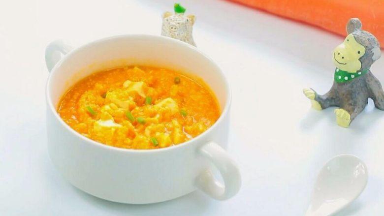 胡萝卜蛋黄糊 宝宝健康辅食,嫩豆腐