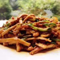 香辣豆腐干炒肉丝