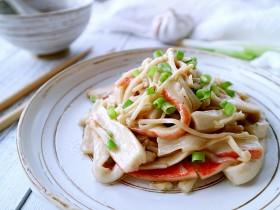 蚝油蟹棒金针菇