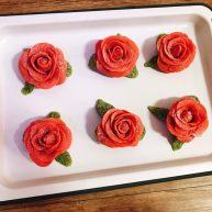 桃山皮玫瑰花月饼