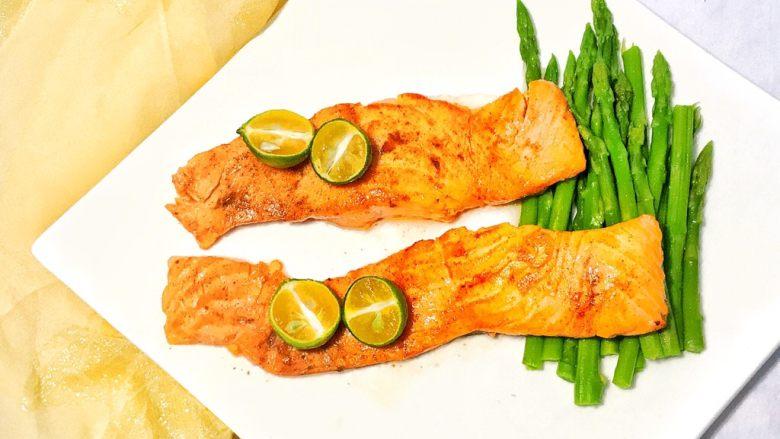 健康美味芦笋三文鱼