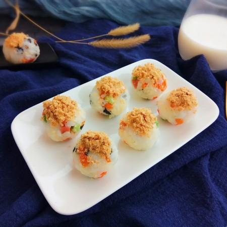 海苔芝士肉松饭团