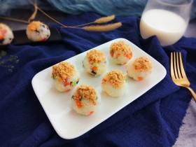 海苔芝士肉松飯團