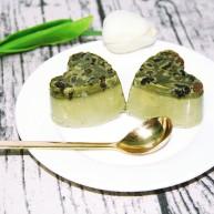 抹茶蜜豆冰布丁