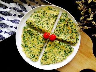 #绿色美食#韭菜鸡蛋饼