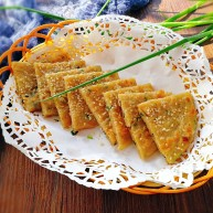 早餐+烫面葱油饼