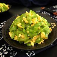绿色美食~苦瓜炒蛋