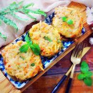 绿色美食+黑胡椒孜然三丝饼