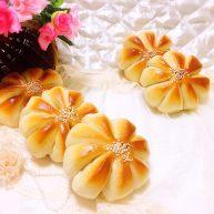 紫薯香芋花朵包