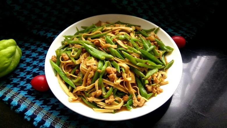 肉沫豆角豆腐丝