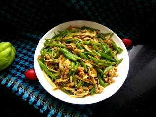肉沫豆角豆腐丝,成品