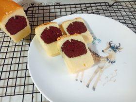 红丝绒可可夹心香草磅蛋糕 (无泡打粉版)
