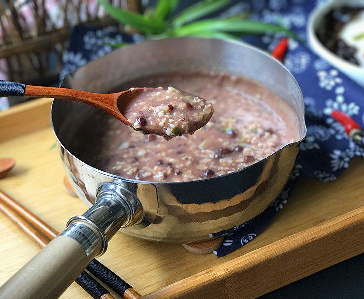 香菇瘦肉红豆沙燕麦粥