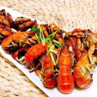 孜然粒炒蝼蛄虾