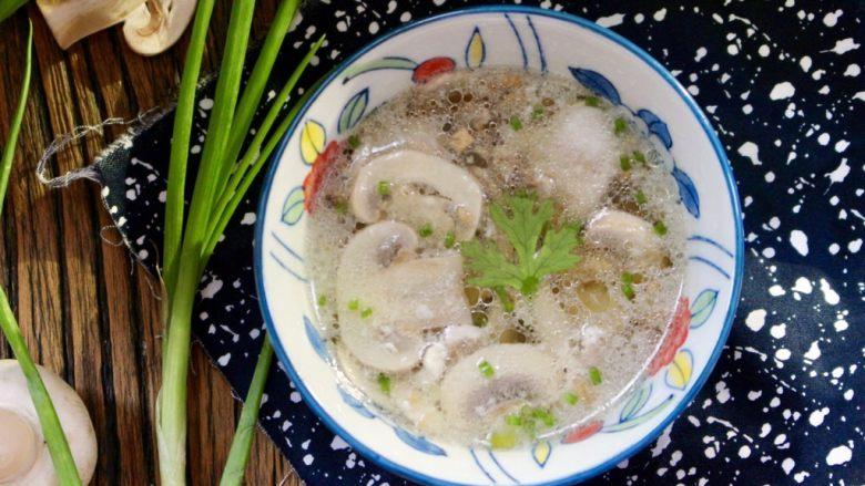 蚝油蘑菇肉片汤