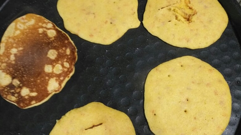无白面糖,瘦身健康,玉米面双面焦也叫玉米饼
