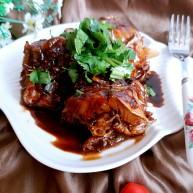 黑酱油+红烧明太鱼