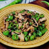 碎米芽菜炒鹅肠