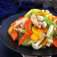 海鲜菇鸡肉炒杂蔬