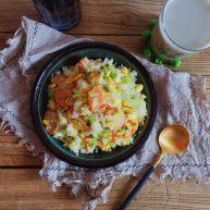 玉米肠蛋炒饭